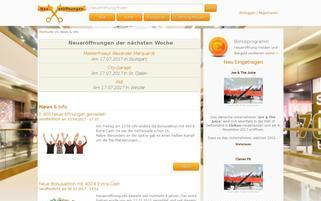 Neueröffnungen Webseiten Screenshot