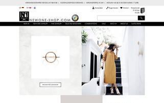 New One Shop Webseiten Screenshot