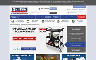Nisbets Webseiten Screenshot