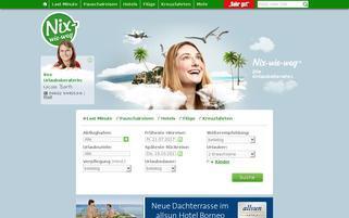 Nix-wie-weg Webseiten Screenshot