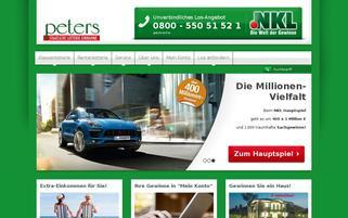 NKL Peters Webseiten Screenshot