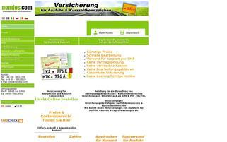 Nondos Webseiten Screenshot
