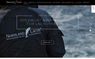 nordland-lachs.de Webseiten Screenshot