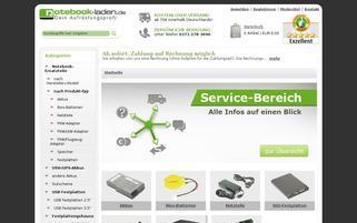 notebook laden Webseiten Screenshot