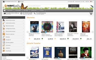 notenbuch.de Webseiten Screenshot