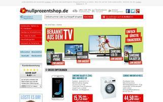 nullprozentshop Webseiten Screenshot