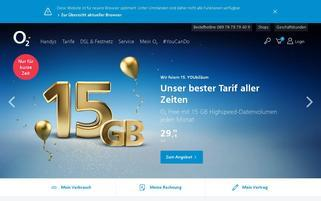 o2 Webseiten Screenshot