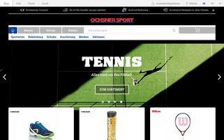 Ochsner Sport Webseiten Screenshot