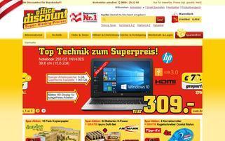 office discount AT Webseiten Screenshot