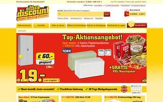 office discount Webseiten Screenshot