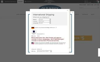 Old Navy Webseiten Screenshot
