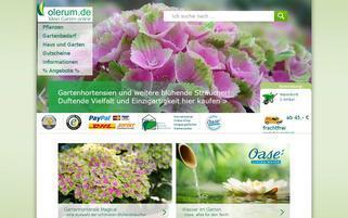 Olerum Webseiten Screenshot