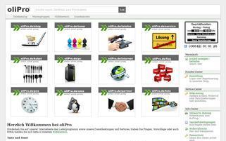 oliPro Webseiten Screenshot