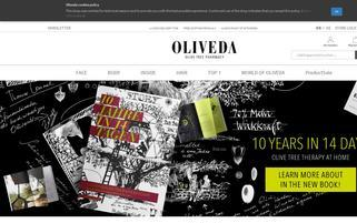 Oliveda Webseiten Screenshot