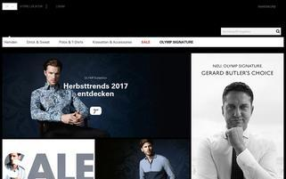 Olymp Webseiten Screenshot