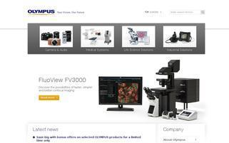 Olympus Webseiten Screenshot