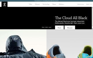 On-Running Webseiten Screenshot