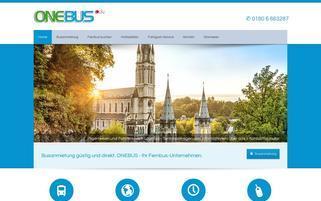 OneBus Webseiten Screenshot