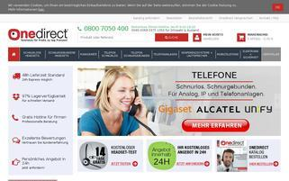 Onedirect Webseiten Screenshot