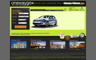 onewaygo.de Webseiten Screenshot