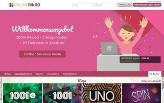 OnlineBingo.eu Webseiten Screenshot