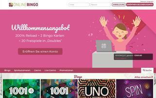 OnlineBingo.eu Webseiten Screenshot