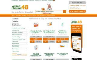 onlinepharma48 Webseiten Screenshot