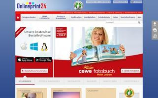 Onlineprint24 Webseiten Screenshot