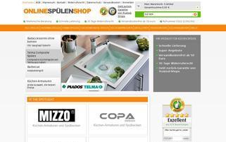 OnlineSpülenShop Webseiten Screenshot