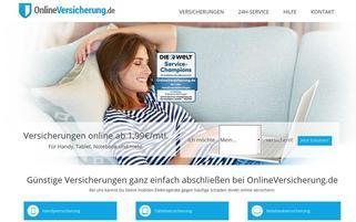 Onlineversicherung Webseiten Screenshot