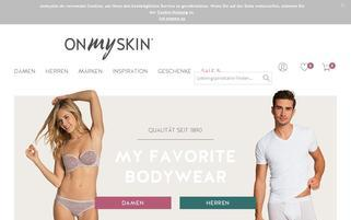 Onmyskin Webseiten Screenshot