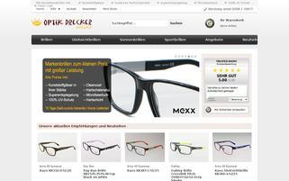 Optik Drecker Webseiten Screenshot
