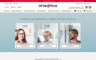 Optik24plus Webseiten Screenshot