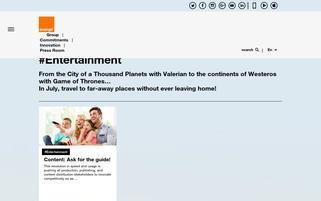Orange Webseiten Screenshot