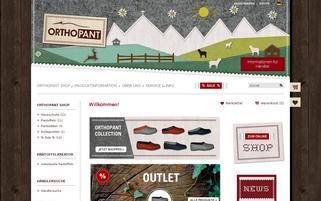 Orthopant Webseiten Screenshot