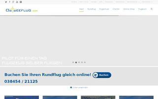 Ostseeflug Webseiten Screenshot
