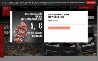Otto Gourmet Webseiten Screenshot