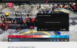 Outdoor Ötztal Webseiten Screenshot