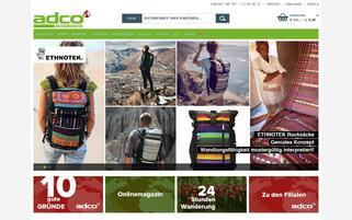 OutdoorShop Webseiten Screenshot