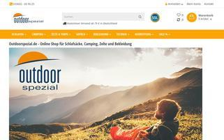 outdoorspezial.de Webseiten Screenshot