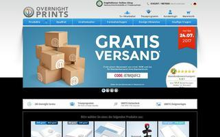 OvernightPrints Webseiten Screenshot
