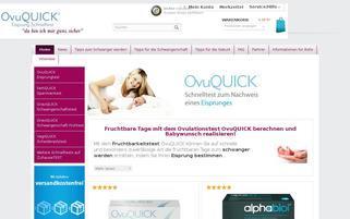 OvuQUICK Webseiten Screenshot