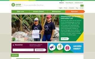 Oxfam Unverpackt Webseiten Screenshot
