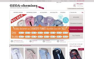 ozoa-chemises.com Webseiten Screenshot