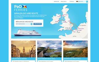 P&O Ferries Webseiten Screenshot