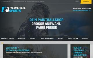 Paintballshop Hannover Webseiten Screenshot