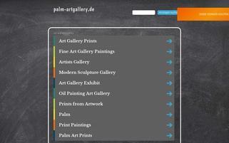 Palm Art Gallery Webseiten Screenshot