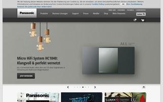 Panasonic Webseiten Screenshot
