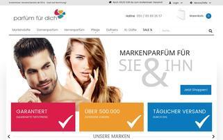 Parfüm für dich Webseiten Screenshot