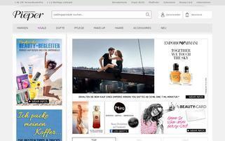 Parfümerie Pieper Webseiten Screenshot